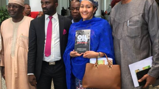 Nigeria's Minister of Environment has her copy of Oil Politics - have your ordered yours?