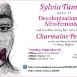 Launch of Decolonization and Afro-Feminism with Sylvia Tamale and Charmaine Pereira